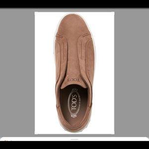 TOD'S Nubuck Slip-On  Leather Sneakers $495